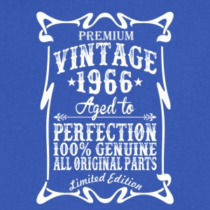 Premium Vintage 1966 Aged To Perfection Tshirt - Men's V-Neck T-Shirt by Canvas
