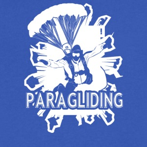Paragliding Tee Shirt - Men's V-Neck T-Shirt by Canvas