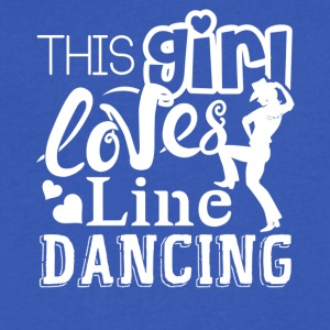 This Girl Loves Line Dancing Shirts - Men's V-Neck T-Shirt by Canvas