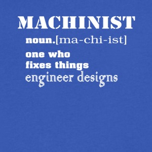 Machinist Tee Shirt - Men's V-Neck T-Shirt by Canvas