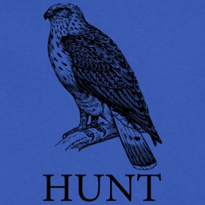 Falconry Hunt - Men's V-Neck T-Shirt by Canvas