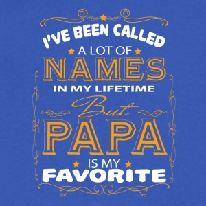 Papa Is My Favorite T Shirt - Men's V-Neck T-Shirt by Canvas
