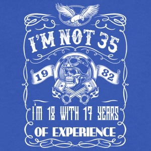 I'm not 35 1982 I'm 18 with 17 years of experience - Men's V-Neck T-Shirt by Canvas