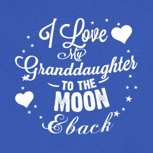 I love my granddaughter to the moon back - Men's V-Neck T-Shirt by Canvas