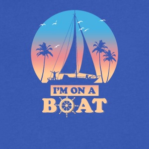 I'm On A Boat - Men's V-Neck T-Shirt by Canvas