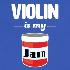 Violin is my Jam - Men's V-Neck T-Shirt by Canvas