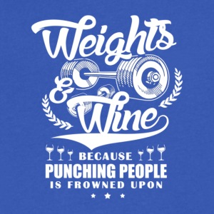 Weights And Wine - Men's V-Neck T-Shirt by Canvas