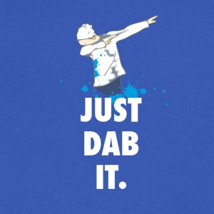dab just dabbing football touchdown mooving dance - Men's V-Neck T-Shirt by Canvas