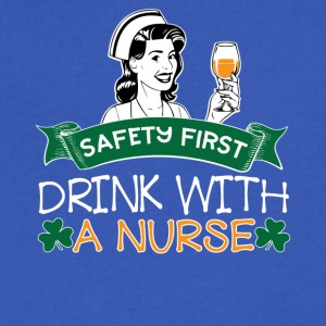 07 SAFETY FIRST DRINK WITH A NURSE - Men's V-Neck T-Shirt by Canvas