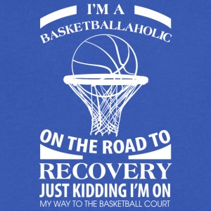 I'm A Basketballaholic On The Road To Discovery - Men's V-Neck T-Shirt by Canvas