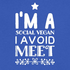 I'm a social vegan i avoid meet - Men's V-Neck T-Shirt by Canvas