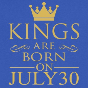 Kings are born on July 30 - Men's V-Neck T-Shirt by Canvas