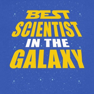 Best Scientist In The Galaxy - Men's V-Neck T-Shirt by Canvas