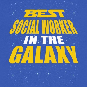 Best Social Worker In The Galaxy - Men's V-Neck T-Shirt by Canvas