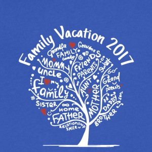 family vacation 2017 - Men's V-Neck T-Shirt by Canvas