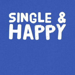 Single and happy - Men's V-Neck T-Shirt by Canvas
