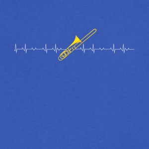 Trombone heartbeat lover - Men's V-Neck T-Shirt by Canvas