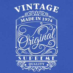Vintage made in 1974 - Men's V-Neck T-Shirt by Canvas
