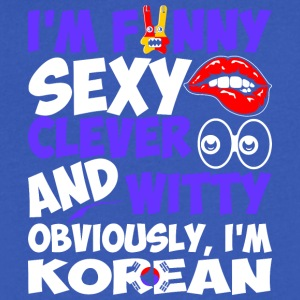 Im Funny Sexy Clever And Witty Im Korean - Men's V-Neck T-Shirt by Canvas
