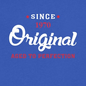 Since 1970 Original Aged To Perfection - Men's V-Neck T-Shirt by Canvas