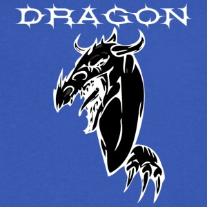 dragon_with_hand_BLACK - Men's V-Neck T-Shirt by Canvas