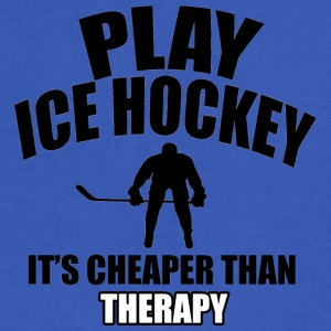 ice hockey design - Men's V-Neck T-Shirt by Canvas
