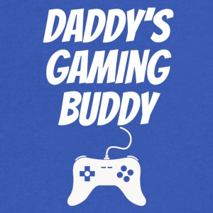 Daddys Gaming Buddy - Men's V-Neck T-Shirt by Canvas