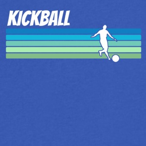 Retro Kickball - Men's V-Neck T-Shirt by Canvas