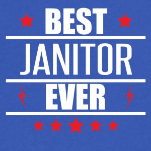 Best Janitor Ever - Men's V-Neck T-Shirt by Canvas