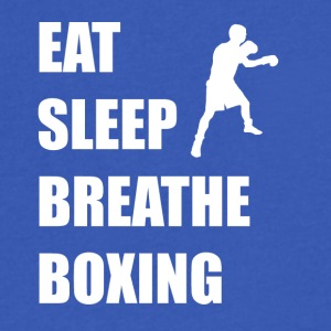 Eat Sleep Breathe Boxing - Men's V-Neck T-Shirt by Canvas