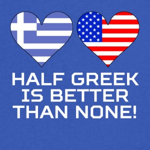 Half Greek Is Better Than None - Men's V-Neck T-Shirt by Canvas