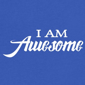 I am Awesome - Men's V-Neck T-Shirt by Canvas