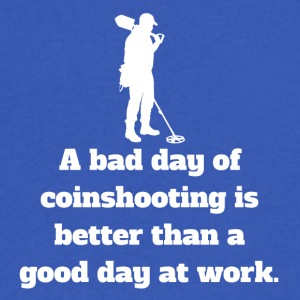 Bad Day Of Coinshooting - Men's V-Neck T-Shirt by Canvas