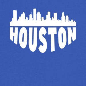 Houston TX Cityscape Skyline - Men's V-Neck T-Shirt by Canvas