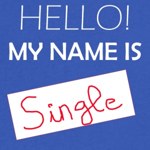 My Name is SINGLE - Men's V-Neck T-Shirt by Canvas