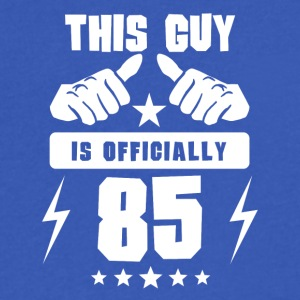 This Guy Is Officially 85 - Men's V-Neck T-Shirt by Canvas