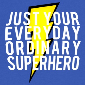 everyday ordinary superhero - Men's V-Neck T-Shirt by Canvas