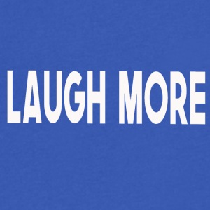 Laugh more! - Men's V-Neck T-Shirt by Canvas