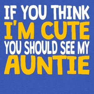If You Think I'm Cute You Should See My Auntie - Men's V-Neck T-Shirt by Canvas