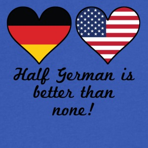 Half German Is Better Than None - Men's V-Neck T-Shirt by Canvas