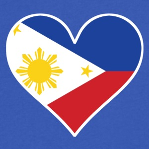 Filipino Flag Heart - Men's V-Neck T-Shirt by Canvas