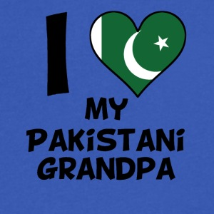 I Heart My Pakistani Grandpa - Men's V-Neck T-Shirt by Canvas