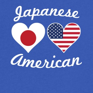 Japanese American Flag Hearts - Men's V-Neck T-Shirt by Canvas