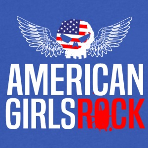 AMERICAN GIRLS ROCK - Men's V-Neck T-Shirt by Canvas