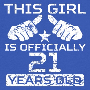 This Girl Is Officially 21 Years Old - Men's V-Neck T-Shirt by Canvas