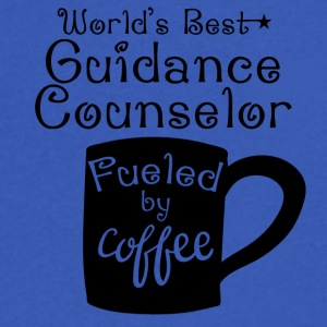 World's Best Guidance Counselor Fueled By Coffee - Men's V-Neck T-Shirt by Canvas