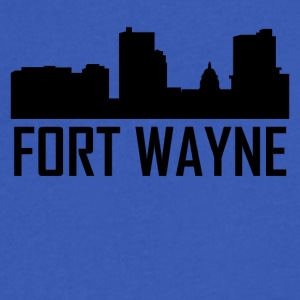 Fort Wayne Indiana City Skyline - Men's V-Neck T-Shirt by Canvas