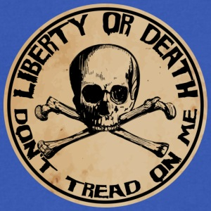 Liberty or Death Dont Tread On Me - Men's V-Neck T-Shirt by Canvas