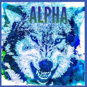 Alpha Wolf - Men's V-Neck T-Shirt by Canvas