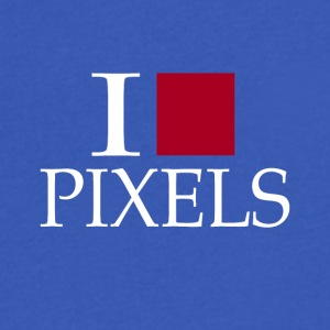 I PIXELS - Men's V-Neck T-Shirt by Canvas